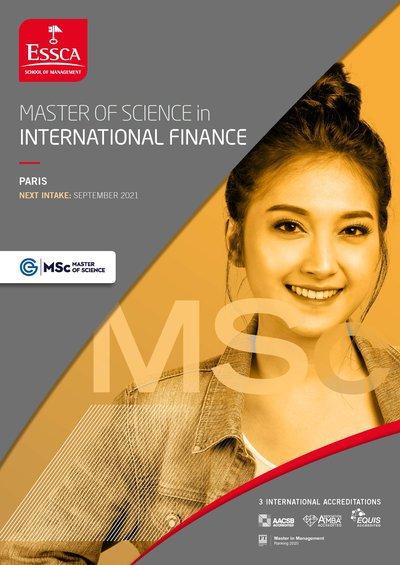 ESSCA MSc International Finance