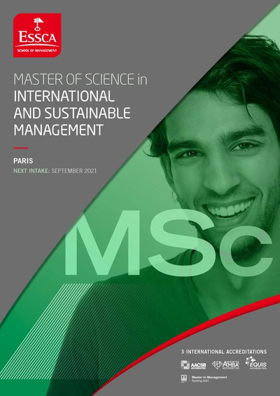 ESSCA MSc in International and Sustainable Management