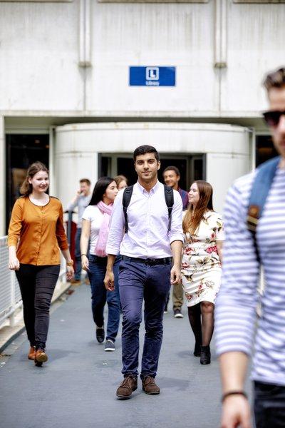 Tilburg University student on campus