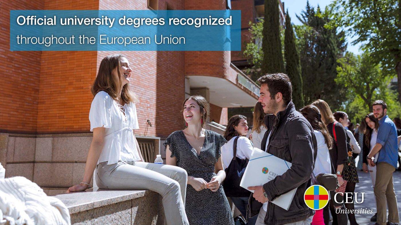 Official university degrees recognized through the European Union