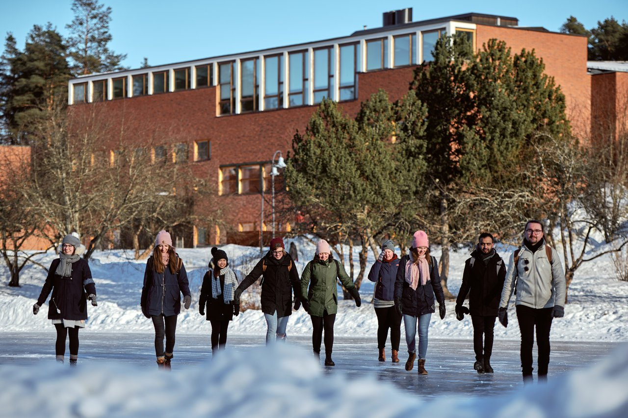 Winter at the JYU campus