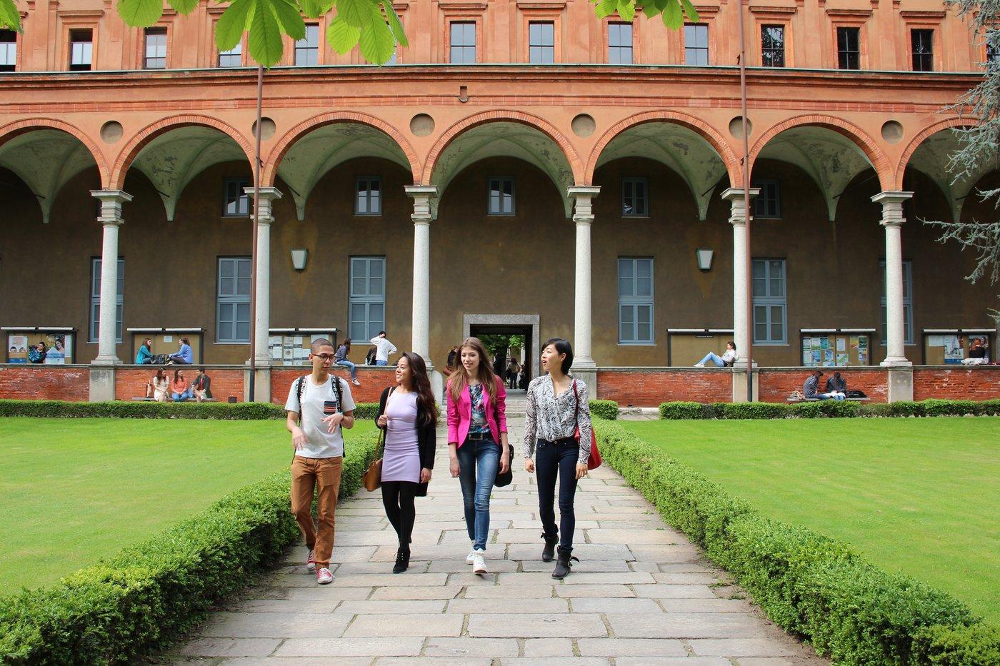 Students at Milan campus
